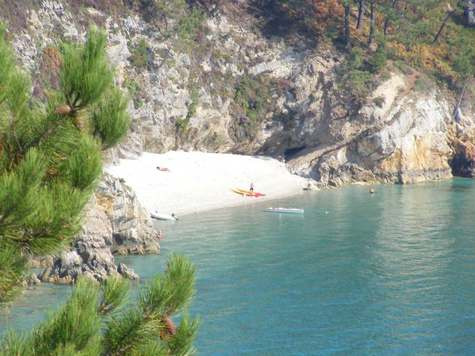 Hidden beach on the crozon peninsula